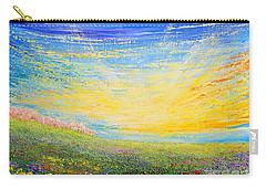 Carry-all Pouch featuring the painting Spring by Teresa Wegrzyn