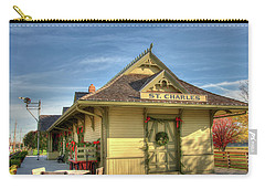 St. Charles Depot Carry-all Pouch by Steve Stuller