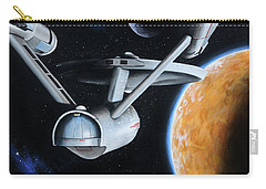 Carry-all Pouch featuring the painting Standard Orbit by Kim Lockman