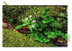 Star Chickweed Mossy Rock Carry-all Pouch