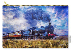 Carry-all Pouch featuring the digital art Steam Train by Ian Mitchell