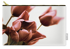 Carry-all Pouch featuring the photograph Still Life Tulips by Jessica Jenney
