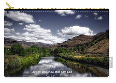 Carry-all Pouch featuring the photograph Stillness by Lynn Hopwood