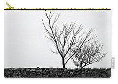 Stone Wall With Trees In Winter Carry-all Pouch