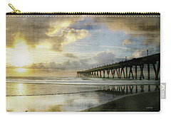 Stormy Sunrise At Johnnie Mercer's Pier Carry-all Pouch