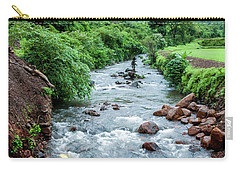 Carry-all Pouch featuring the photograph Stream by Charuhas Images