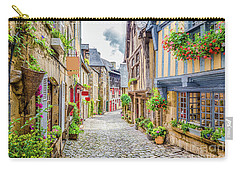 Streets Of Dinan Carry-all Pouch by JR Photography
