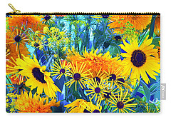 Carry-all Pouch featuring the photograph Summer Bouquet by Byron Varvarigos