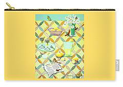 Summer Lavender Lemonade Carry-all Pouch by Jennifer Lake
