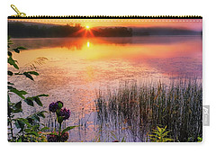 Carry-all Pouch featuring the photograph Summer Sunrise Square by Bill Wakeley