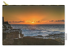 Sun Rising Over The Sea Carry-all Pouch