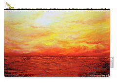 Carry-all Pouch featuring the painting Sunburst by Teresa Wegrzyn