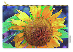 Carry-all Pouch featuring the photograph Sunflower by Allen Beatty