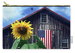 Sunflower By Barn Carry-all Pouch by Sally Weigand