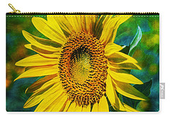Sunflower Carry-all Pouch by Ian Mitchell