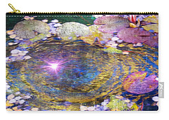 Sunglint On Autumn Lily Pond II Carry-all Pouch