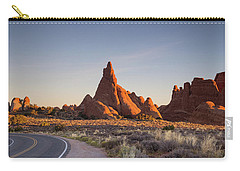 Sunrise In Arches National Park Carry-all Pouch