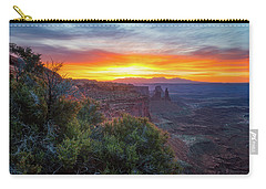 Carry-all Pouch featuring the photograph Sunrise Over Canyonlands by Darren White