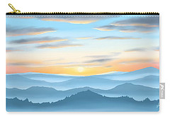 Carry-all Pouch featuring the painting Sunrise by Veronica Minozzi
