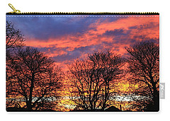 Carry-all Pouch featuring the photograph Sunset And Filigree by Nareeta Martin