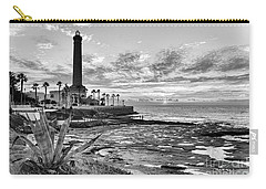 Carry-all Pouch featuring the photograph Sunset At Chipiona Lighthouse Cadiz Spain by Pablo Avanzini