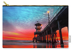Sunset At Huntington Beach Pier Carry-all Pouch