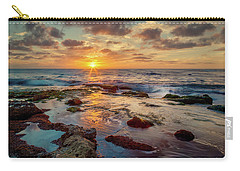 Carry-all Pouch featuring the photograph Sunset At La Jolla  by Rikk Flohr