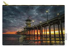 Sunset Huntington Beach Pier  Carry-all Pouch