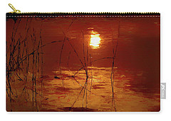 Sunset On The Bay Carry-all Pouch by Andrea Kollo