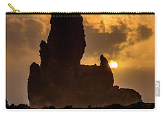 Sunset Over Cliffside Landscape Carry-all Pouch by Joe Belanger