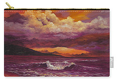 Carry-all Pouch featuring the painting Sunset Over Lanai by Darice Machel McGuire