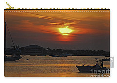 Carry-all Pouch featuring the photograph 1- Sunset Over The Intracoastal by Joseph Keane