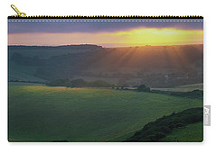 Carry-all Pouch featuring the photograph Sunset Over The South Downs by Will Gudgeon