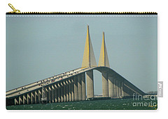 Sunshine Skyway Bridge Carry-all Pouch by Donna Brown