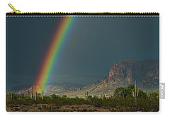 Carry-all Pouch featuring the photograph Superstition Rainbow  by Saija Lehtonen