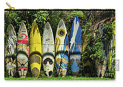 Surfboard Fence Maui Hawaii Carry-all Pouch by Peter Dang
