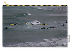 Carry-all Pouch featuring the photograph Photographs Of Cornwall Surfers At Fistral by Brian Roscorla