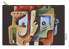 Carry-all Pouch featuring the painting Surrealism Head by Sotuland Art
