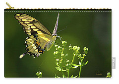Carry-all Pouch featuring the photograph Elegant Swallowtail Butterfly by Christina Rollo