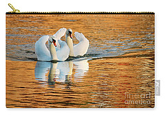 Carry-all Pouch featuring the photograph Swimming On Gold by Darren Fisher
