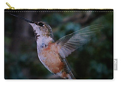 Tan Hummingbird Carry-all Pouch