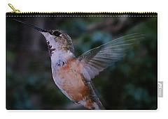 Tan Hummingbird Carry-all Pouch