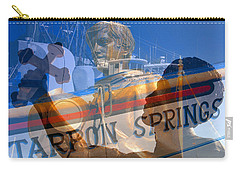 Carry-all Pouch featuring the photograph Tarpon Springs Florida Mash Up by David Lee Thompson