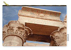 Carry-all Pouch featuring the photograph Temple Of Kom Ombo by Silvia Bruno