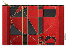 The Alchemy - Divine Proportions - Black On Red Carry-all Pouch