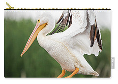 The Amazing American White Pelican  Carry-all Pouch by Ricky L Jones