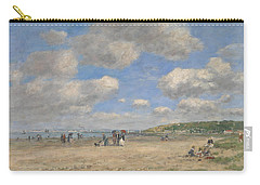 The Beach At Tourgeville Les Sablons Carry-all Pouch