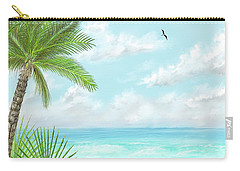 Carry-all Pouch featuring the digital art The Beach by Darren Cannell