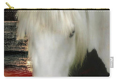 The Beautiful Face Of A Gypsy Vanner Horse Carry-all Pouch