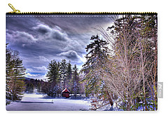 Carry-all Pouch featuring the photograph The Beaver Brook Boathouse by David Patterson